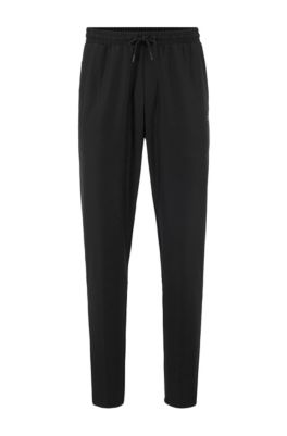 Jogging trousers in S.Café® fabric with drawstring waist, Black