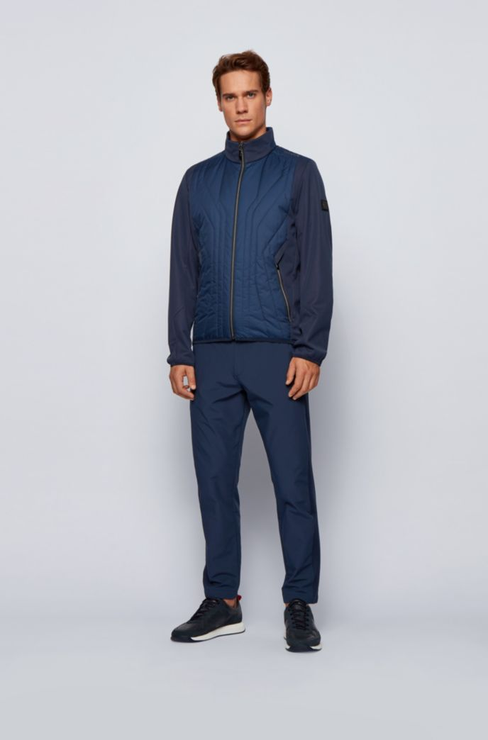 Water-repellent softshell jacket with quilted detailing