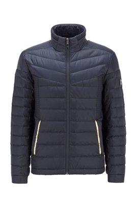 Water-repellent down jacket with contrast details, Dark Blue