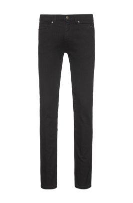 Extra-slim-fit black jeans in stretch denim, Black