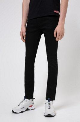 Jean Extra Slim Fit en denim stretch noir, Noir