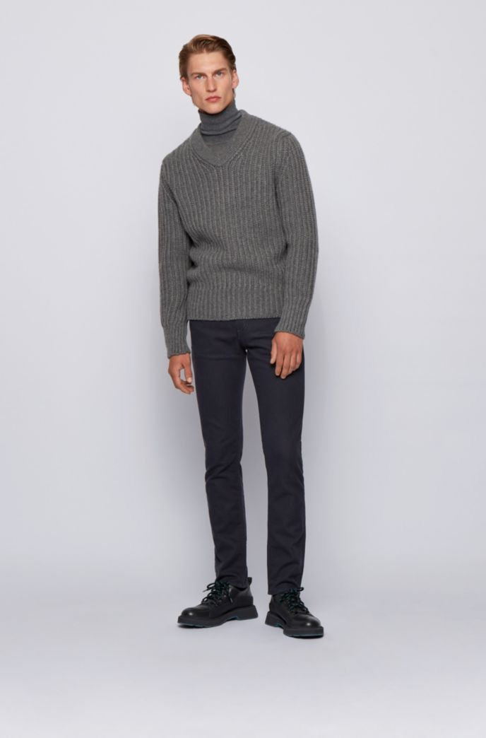Slim-fit jeans in French-terry denim with stretch