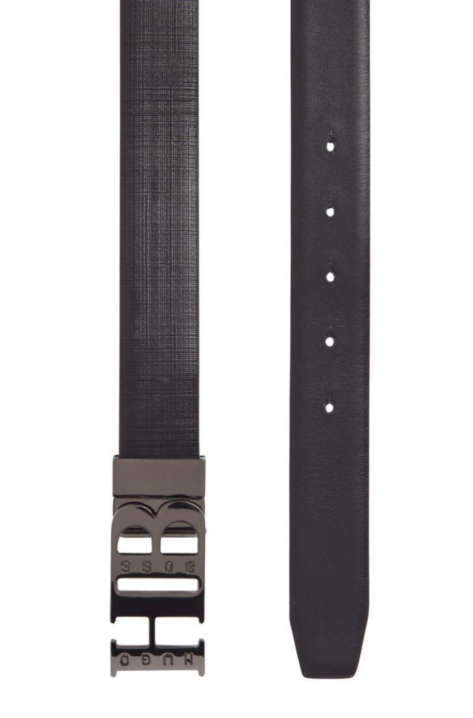 Wendegürtel aus Leder mit Monogramm-Schließe