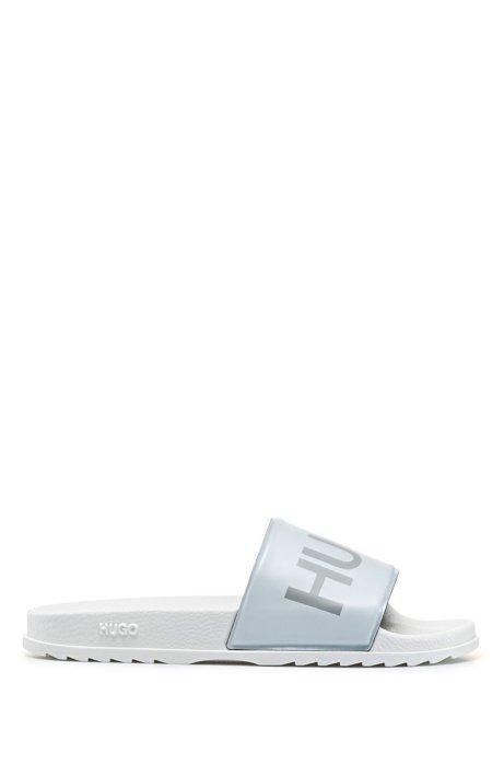 Slippers met logoprint en een gevormd voetbed, Wit
