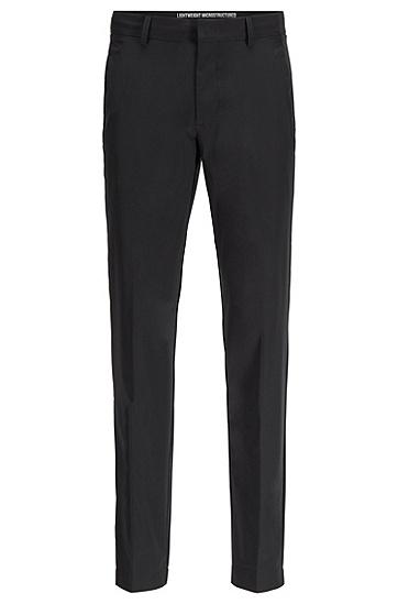 防水弹力面料修身长裤,  001_黑色