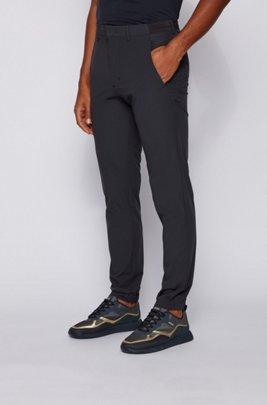 Slim-Fit Hose aus wasserabweisendem Stretch-Gewebe, Dunkelblau