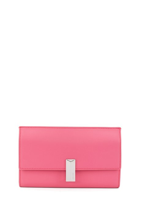 Mini bag in coated leather with multi-functional compartments, Pink