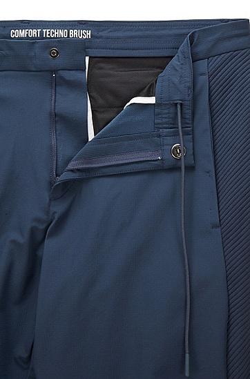 拉链下摆弹力面料锥形长裤,  410_海军蓝色