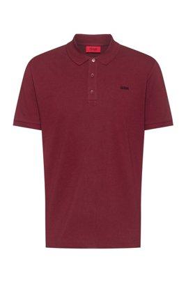 Poloshirt aus Baumwoll-Piqué mit Reversed-Logo, Dunkelrot
