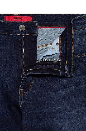 超修身弹力牛仔裤,  414_海军蓝色