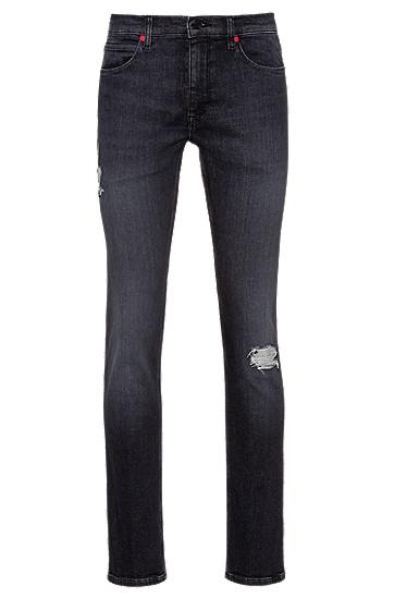 黑色超修身弹力牛仔裤,  015_炭黑色