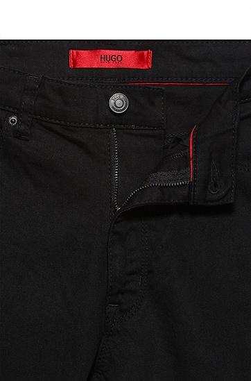 超修身款下摆标准闭合瘦腿裤,  001_黑色