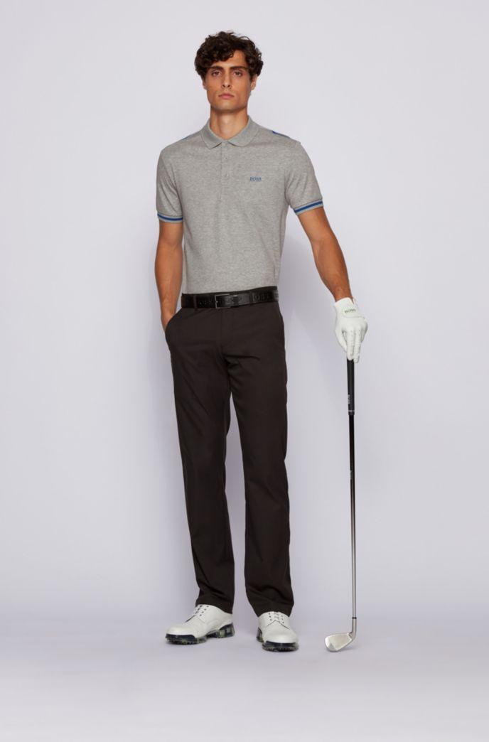 Slim-Fit Poloshirt aus Baumwolle mit Kontrast-Streifen