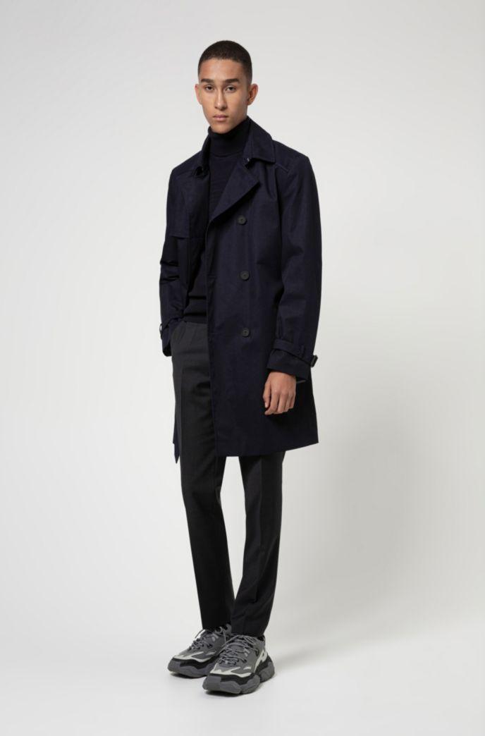 Jersey extra slim fit en algodón y lana virgen