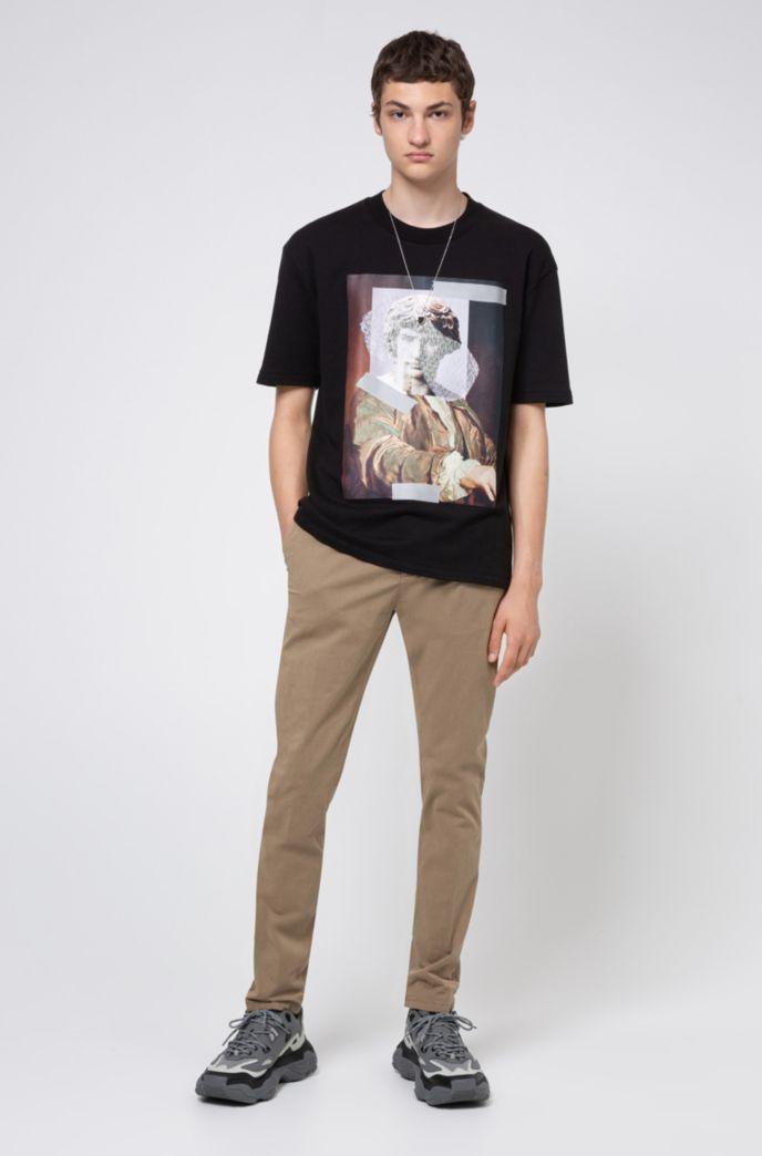 T-shirt Relaxed Fit en coton à motif statue abstraite