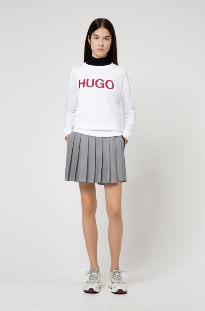 Logo sweater in organic-cotton French terry
