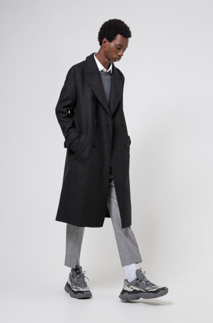 Pullover aus fein strukturiertem Baumwoll-Jacquard mit Rundhalsausschnitt