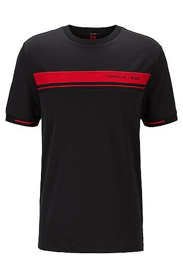 专属印花圆领棉 T 恤,  001_黑色