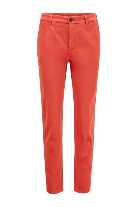Chino court Regular Fit en coton stretch, Orange foncé