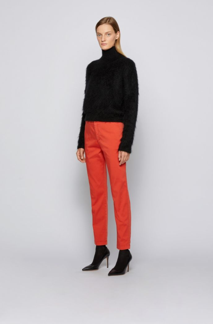 Regular-fit cropped chinos in stretch cotton