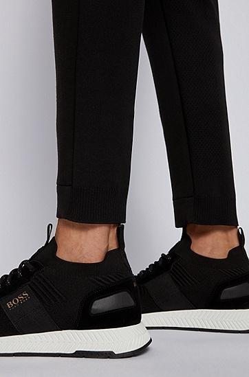 修身款抽绳标准腰身裤子,  009_黑色
