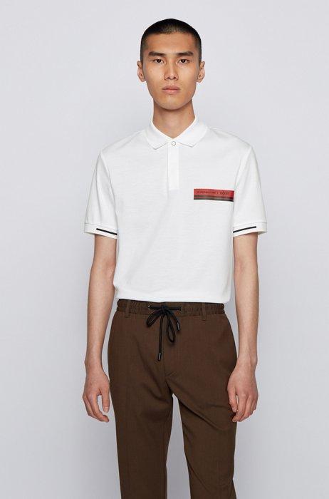 Poloshirt aus merzerisierter Baumwolle, Weiß