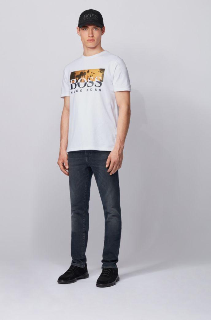 T-shirt entièrement recyclable à logo imprimé bicolore