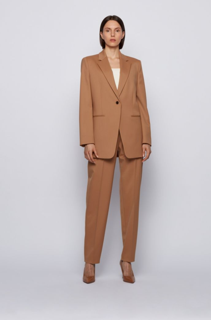 Jersey de punto con manga corta y cuello superpuesto