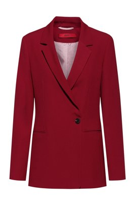 Single-breasted jacket with asymmetric closure, Light Red