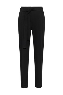 Relaxed-fit trousers in a TENCEL™ Lyocell blend, Black