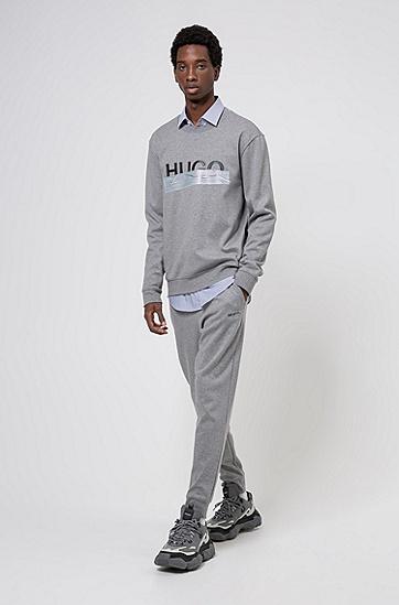 新季徽标棉毛卫衣,  047_银灰色