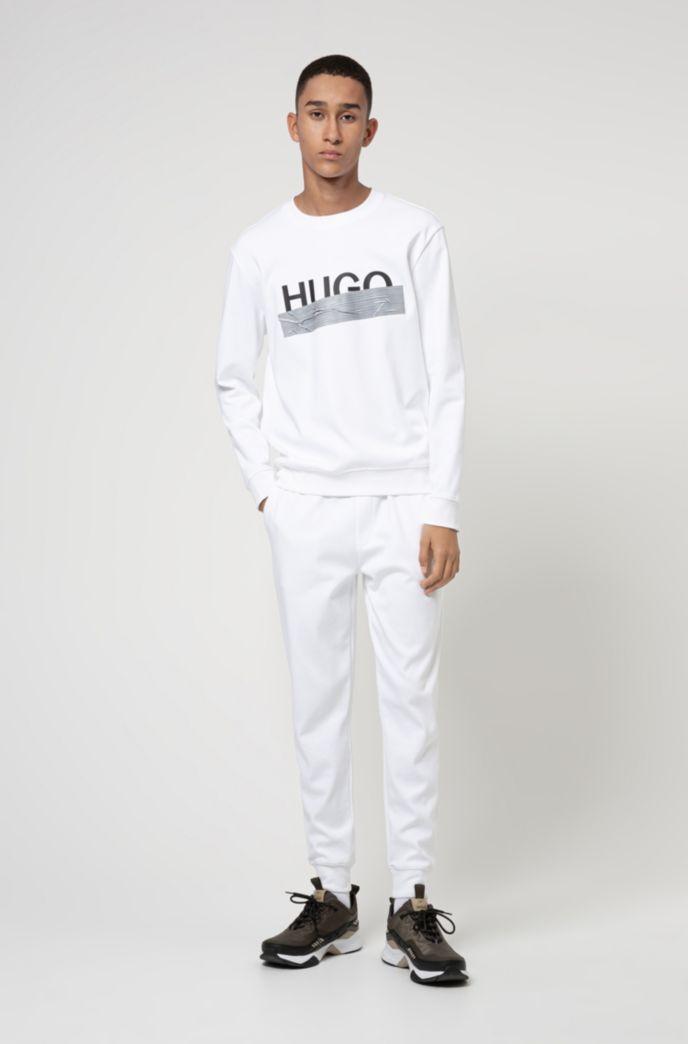 Interlock-cotton sweatshirt with new-season logo