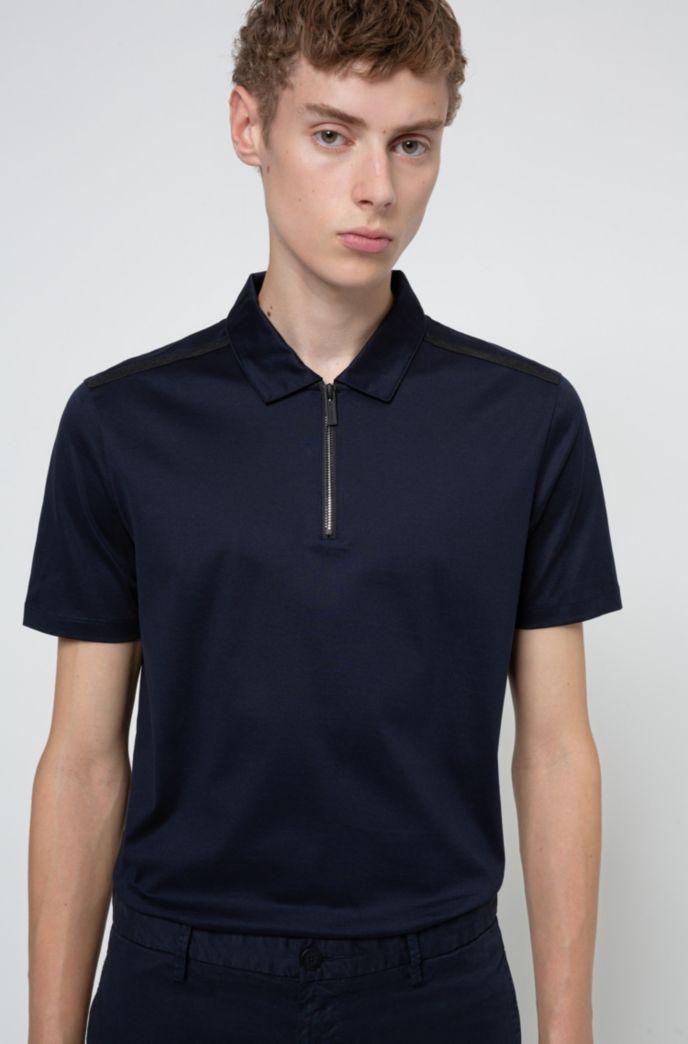 Poloshirt aus merzerisierter Baumwolle mit Reißverschluss am Kragen