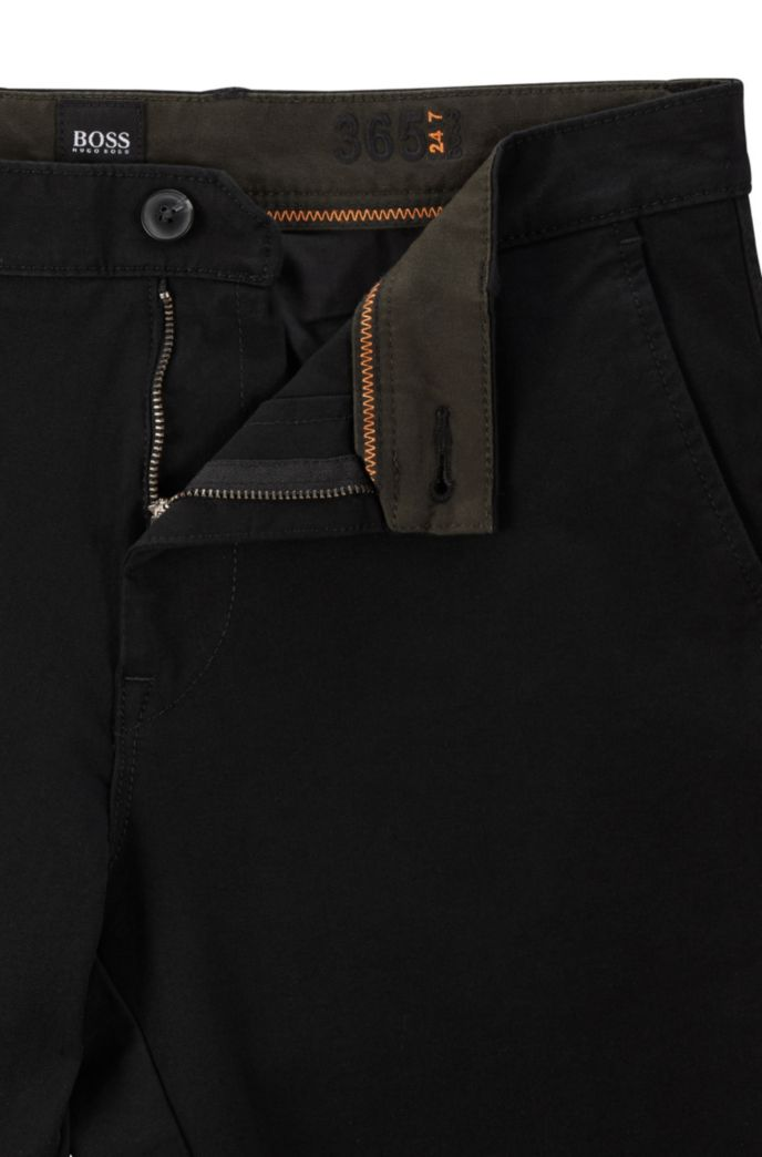 Extra-slim-fit trousers in two-way stretch cotton