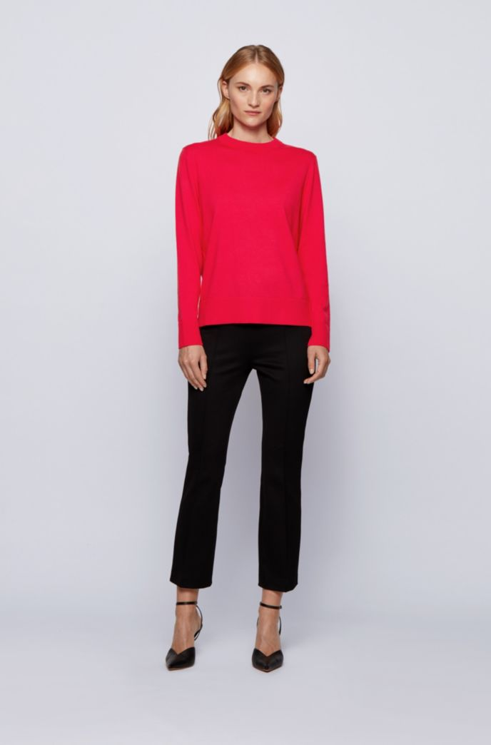 Relaxed-fit cotton-blend sweater with silk and cashmere