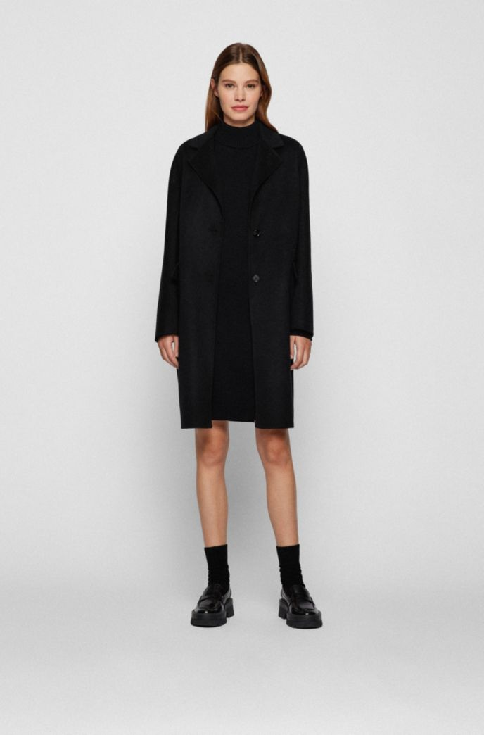 Rollneck sweater dress in cotton and virgin wool