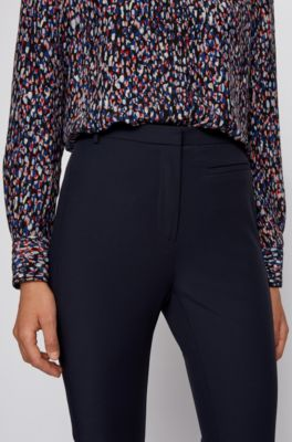 Boss Pantalones Slim Fit De Estilo Legging Con Apliques Laterales