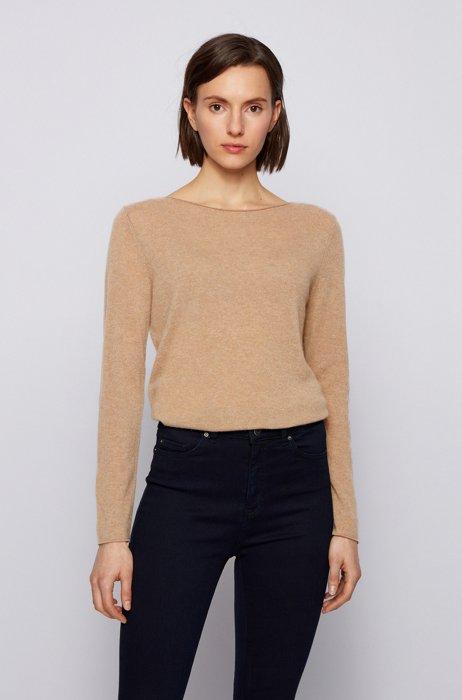 Slim-fit trui van zuiver kasjmier, Beige