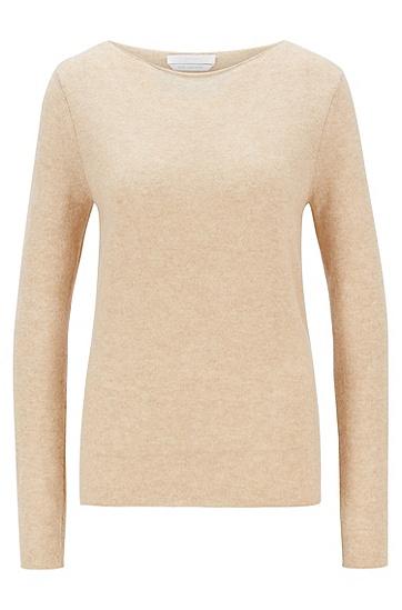 纯羊绒修身版毛衣,  277_浅米色