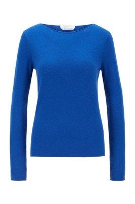 Slim-fit trui van zuiver kasjmier, Lichtblauw