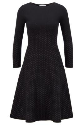 hugo boss polka dot dress