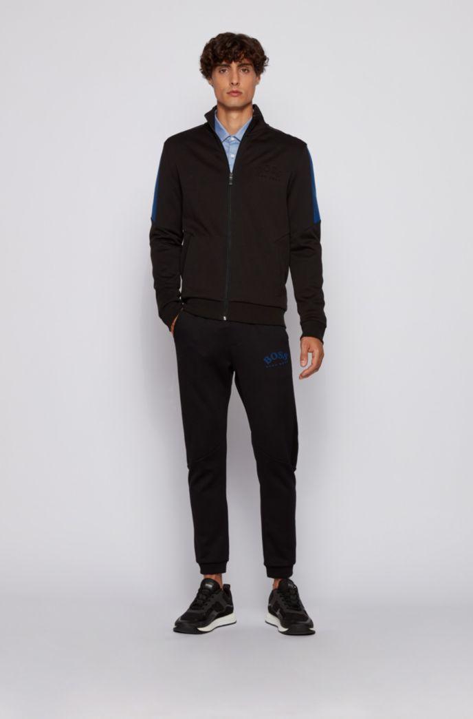 Mehrfarbiges Slim-Fit Hemd aus strukturierter Baumwolle