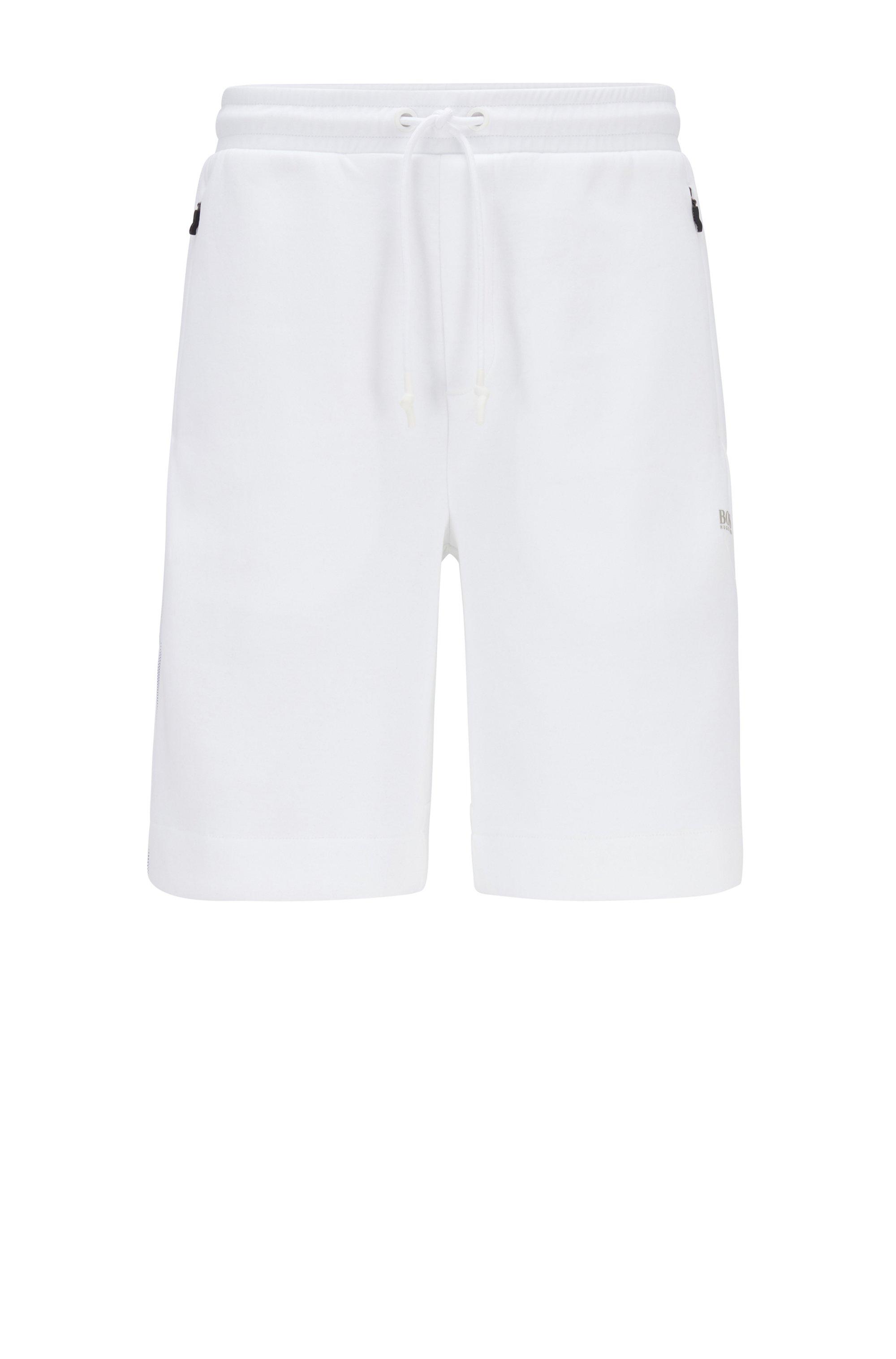 Jersey short met reflecterende details, Wit