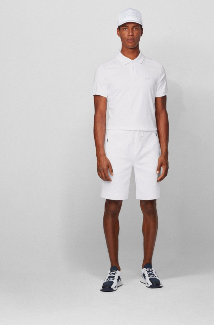 Jersey shorts with reflective details