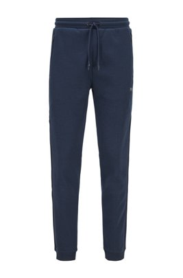 Slim-fit jogging trousers with reflective details, Dark Blue