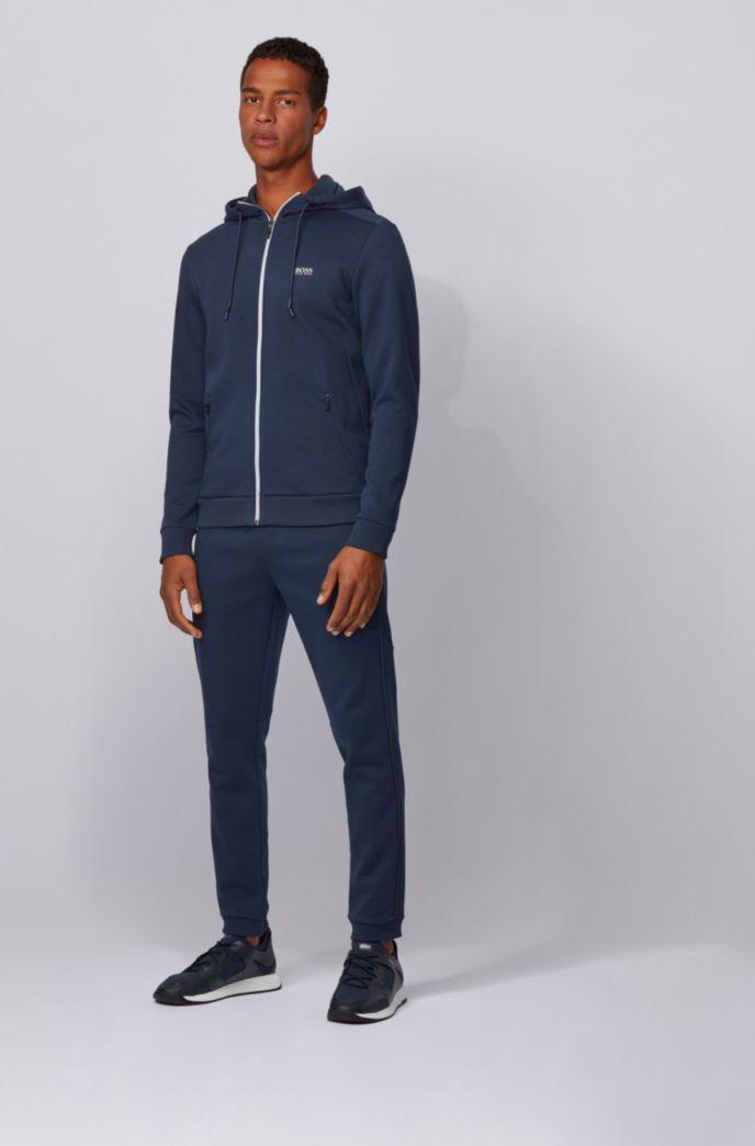 Zip-through hooded sweatshirt with reflective logo