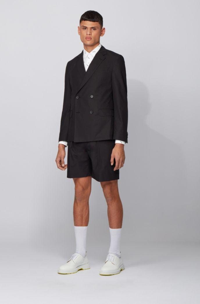Slim-Fit Hemd aus Stretch-Baumwolle mit Monogramm-Print