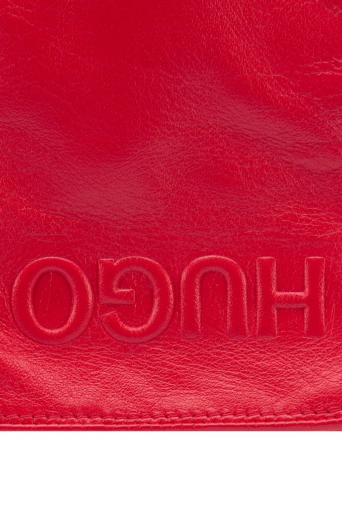 Nappa-leather gloves with reverse logo