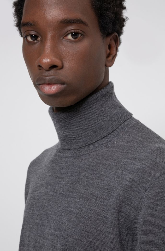 Slim-fit sweater in a virgin-wool blend