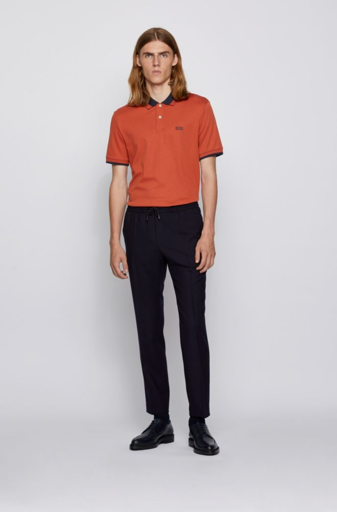 Cotton polo shirt with contrast details